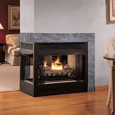 double sided ventless gas fireplace