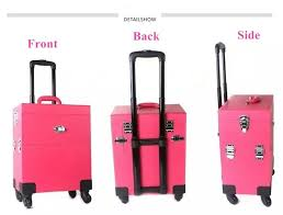 professional trendy trolley makeup case