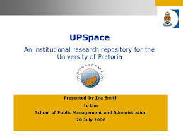 UPSpace An institutional research repository for the University of ...