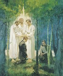 Pedro, Santiago y Juan confiriendo el Sacerdocio de Melquisedec a Jose Smith  y Oliver Cowdery.   Joseph smith, Sacerdocio, Historia de la iglesia