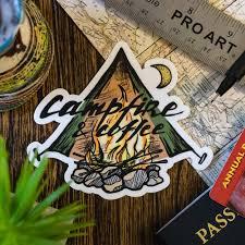 Campfire Coffee Sticker Among The Wild