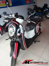 86 modifikasi scoopy hitam putih 2016