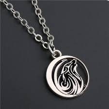 wolf charms pendant necklace howl moon