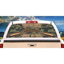 Live To Hunt Rear Window Graphic Truck View Thru Vinyl Decal Back Walmart Com Walmart Com