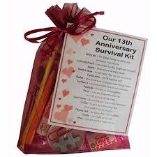 13th anniversary survival kit gift