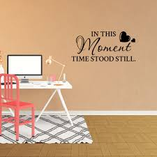 Wall Decal Quote In This Moment Time Stood Still Vinyl Decor Words Lettering Sticker Jp923 Walmart Com Walmart Com