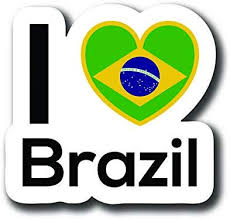 Amazon Com Love Brazil Flag Decal Sticker Home Pride Travel Car Truck Van Bumper Window Laptop Cup Wall One 5 Inch Decal Mks0136 Automotive