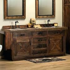 reclaimed wood bathroom cabinets