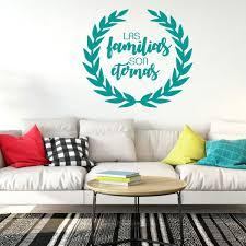 Amazon Com Calcomanias De Familia Las Familias Son Eternas Families Are Forever Religious Vinyl Wall Decal For Living Room Bedroom Handmade