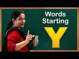 learn words starting with y flash