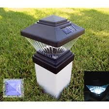 Solar Light Fence Post Caps Matte Black Fits Pvc 4x4 Posts Only Colonial Style Set Of 8 Amazon Com