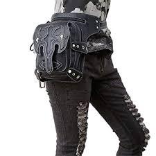 punk waist bags leg thigh holster bag