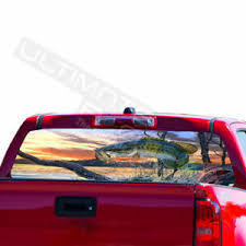 Fishing Surfing Decal Rear Window Sticker Perforated For Chevrolet Avalanche Ebay