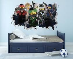Ninjago Lego Wall Hole Logo Wall Decal Decor Bedroom Stickers Vinyl Lnwh01 Ebay