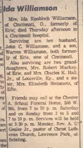 Ida A Knobloch Williamson (1879-1959) - Find A Grave Memorial