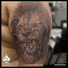 Realistic Lion 3D Tattoo - Ace Tattooz