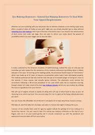 ppt eye makeup removers natural eye