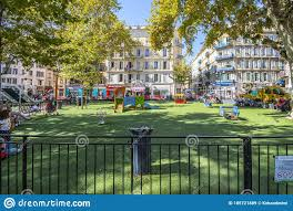 Children Play In A Small Fenced Playground School Yard In The Urban Center Of Nice France Editorial Stock Image Image Of Cityscape City 185721889