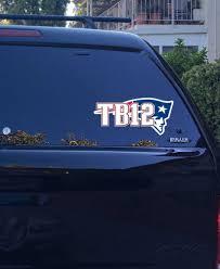 22 06 New England Patriots Tom Brady Jersey Tb12 Logo Vinyl Sticker Decal Nfl New England Patriots Tom Brady Jersey New England