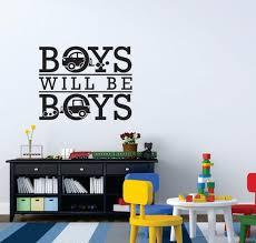 Boys Will Be Boys Playroom Wall Decal Sticker Etsy