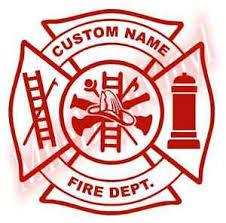 Fire Fighter Maltese Cross Vinyl Window Decal