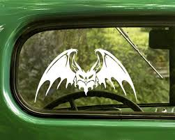 2 Spooky Bat Decal Stickers The Sticker And Decal Mafia