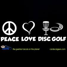 Peace Love Disc Golf Car Window Vinyl Decal Sticker