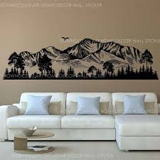 Mountain Silhouette Wall Decals Forest Wall Decals Woodland Wall Art Nursery Decor Woodland Baby Room For Bedrooms 3123 T200601 Wall Quotes Decals Wall Quotes Stickers From Xue10 19 42 Dhgate Com