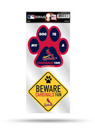 St Louis Cardinals 2 Piece Pet Themed Auto Decal Red 7142112