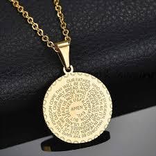 amen necklace gold color