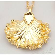 mini kale pendant necklace in 24k gold