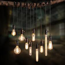 bulb and cord add a vintage industrial
