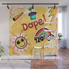 Dopest Dope Wall Mural By Cannabiscoachhaley Society6