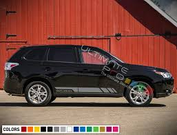 Sticker Decal Stripes Body Kit For Mitsubishi Outlander Ralliart Hood Window Lip Wish