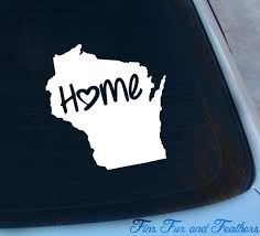 Wisconsin Decal State Decal Home Decal Wi Sticker Love Etsy
