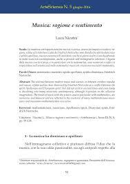 PDF) Musica: ragione e sentimento