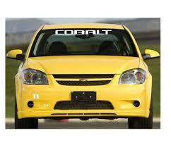 Chevy Chevrolet Cobalt Windshield Banner Decal Sticker Custom Sticker Shop