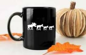 Moose Family Vinyl Decal For Cars Walls Tumblers Cups Laptops Windows Home Lapto Ebay