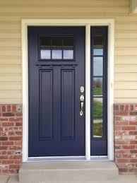 craftsman style front door in blue