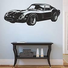 Amazon Com Stickersforlife Ik963 Wall Decal Sticker Italian Car Ferrari Super Car Powerful Living Bedroom Home Kitchen