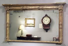 antique gilt overmantel mirror gold