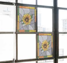 Sunflower Window Film Window Sticker Tenstickers