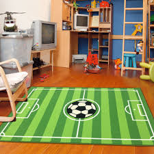 Soccer Field Ground Kids Play Area Rug Anti Skid Backing 6 7 X9 2 Walmart Com Walmart Com