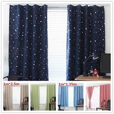 Stars Blackout Curtains For The Bedroom Living Room Kids Room Window Curtain Room Darkening Drapes Home Curtains Home Decor Blinds Shades Shutters Aliexpress