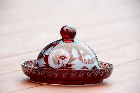 crystal covered er dish bavarian