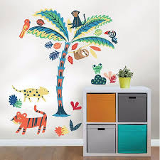 Wpk2580 Tropical Rainforest Friends Wall Decal By Wallpops