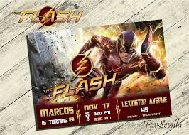 Invitacion Flash The Flash Invitation Invitaciones