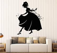 Vinyl Wall Decal Cinderella Princess Fairy Tale Story Nursery Children Wallstickers4you