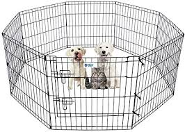 Amazon Com Hachi Shop Dog Pet Playpen Foldable Puppy Playpen Exercise Pen Fence Indoor 8 Panel Dog Pen Ideal For Small Dogs Cats Rabbits 24 Inches 24 X24 Pet Supplies