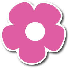 Amazon Com Pink Flower 5 Car Magnet Decal Heavy Duty For Car Truck Suv Automotive